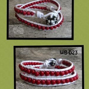 WB-D23 double beaded wrap bracelet